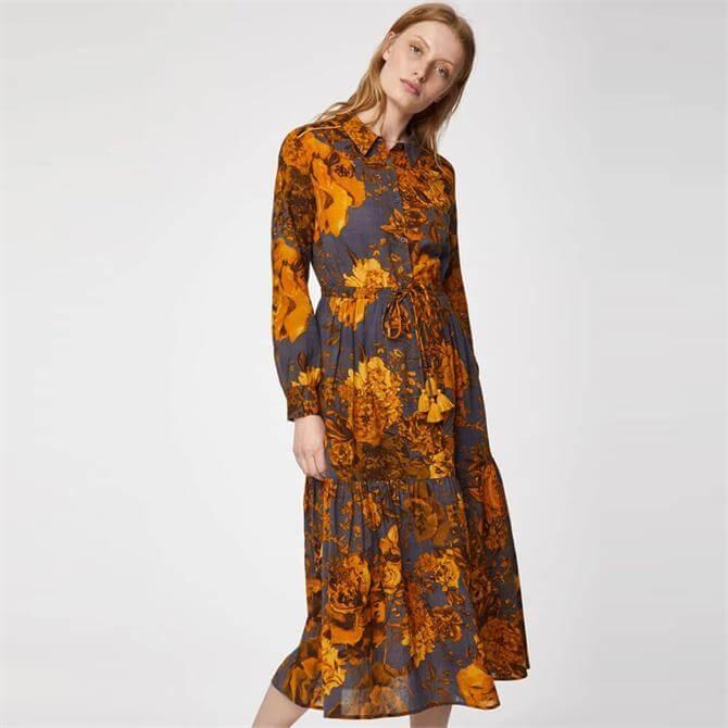Thought Eugenia Organic Cotton Print Midi Dress