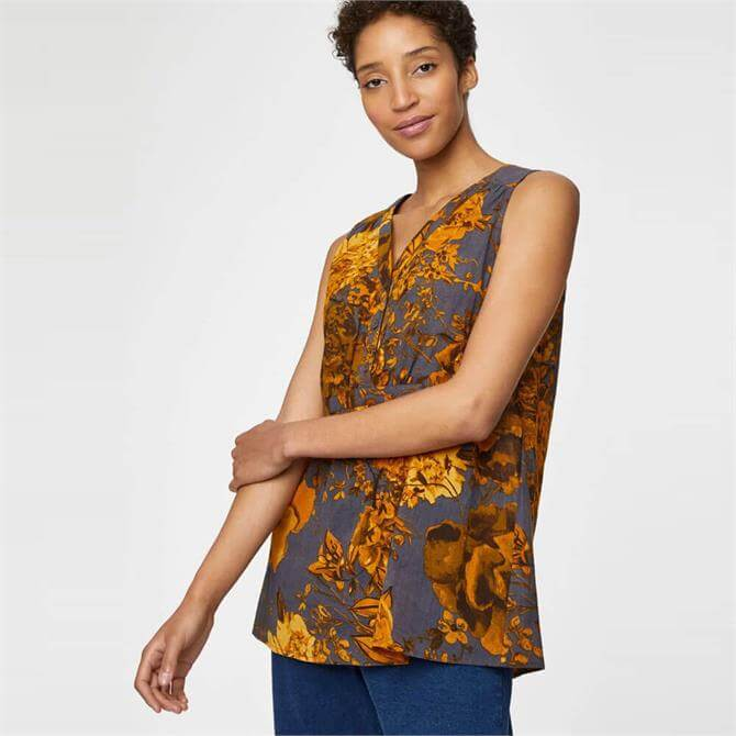 Thought Eugenia Organic Cotton Floral Top