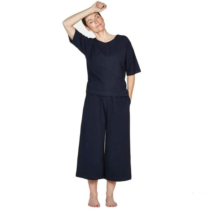 Thought Lettice Cotton Jersey Pyjama Set With Bag