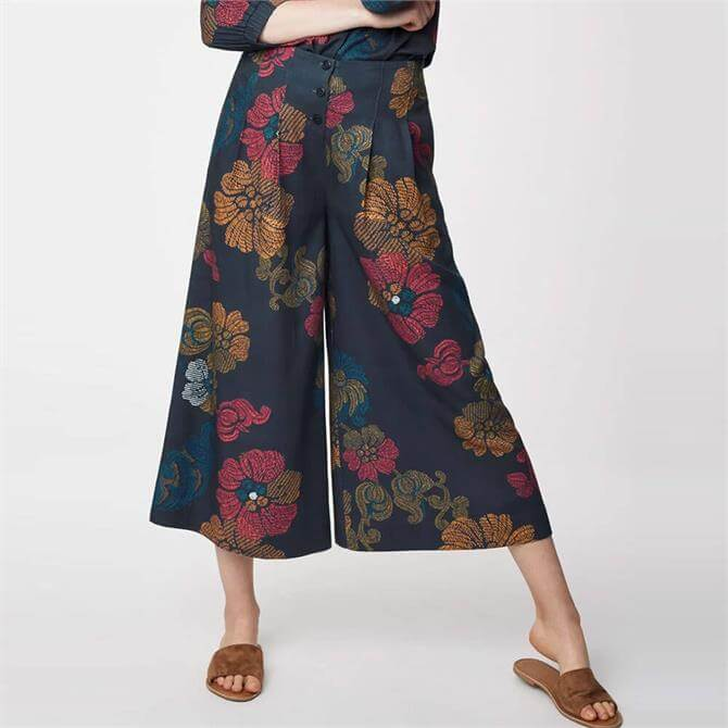 Thought Marrina Wide Leg Printed Bamboo Culottes