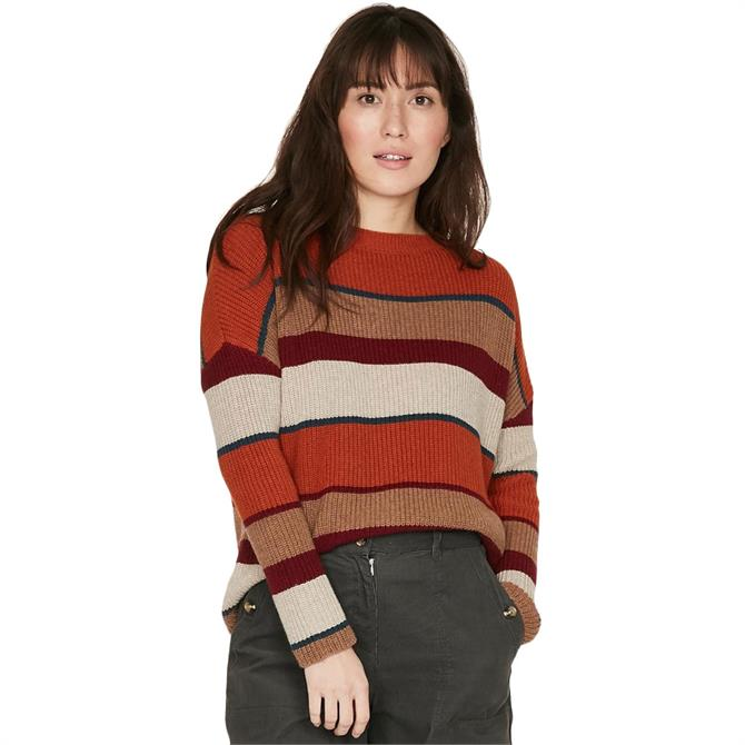 Thought Malissa Rib Stripe Swing Sweater