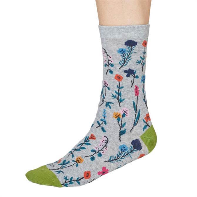Thought Mondie Organic Cotton Floral Socks