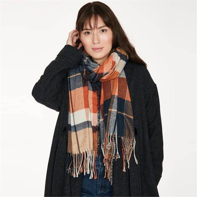Thought Narcissa Recycled Polyester Check Scarf