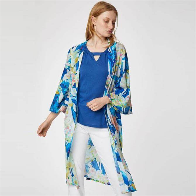 Thought Sabbina Organic Cotton Floral Print Duster Jacket
