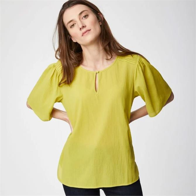 Thought Winnie Organic Cotton Flute Sleeve Blouse