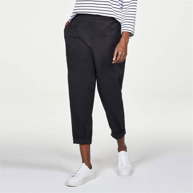 Thought Harriet Popper Detail Tencel Organic Cotton Trousers