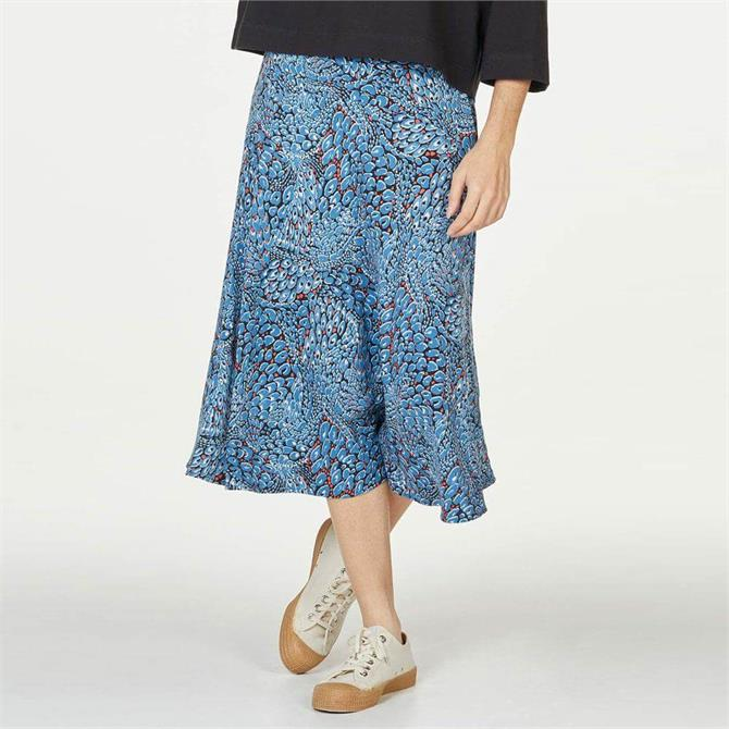 Thought Saraband Printed Tencel Bamboo Flared A-Line Skirt