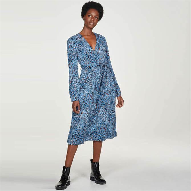 Thought Saraband Printed Tencel Bamboo Wrap Dress