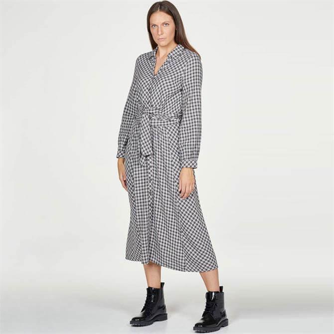Thought Georgine Hemp Organic Cotton Wrap Front Midi Dress