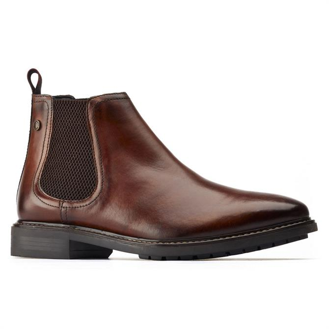 Base London Seymour Dark Brown Leather Chelsea Boots