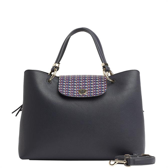 Tommy Hilfiger My Tommy Plaque Detail Satchel