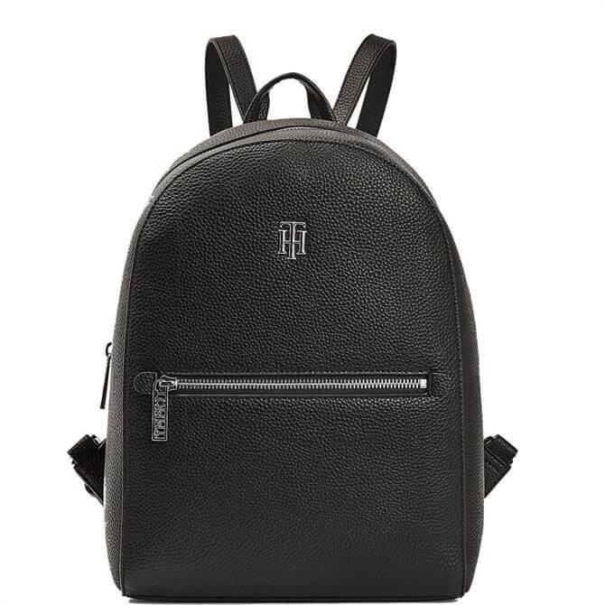 Tommy Hilfiger TH Essence Monogram Plaque Black Backpack