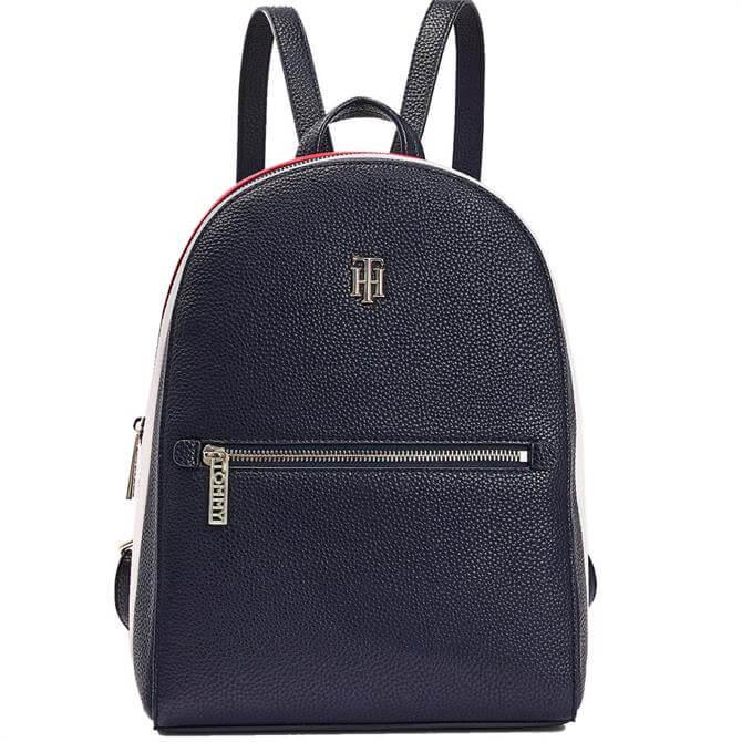 Tommy Hilfiger TH Essence Monogram Signature Blue Backpack
