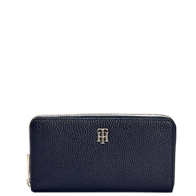 Tommy Hilfiger TH Essence Blue Large Signature Zip Around Wallet