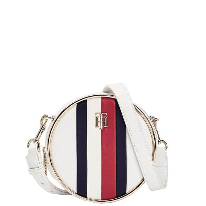 Tommy Hilfiger Statement Circle Bright White Crossover Bag