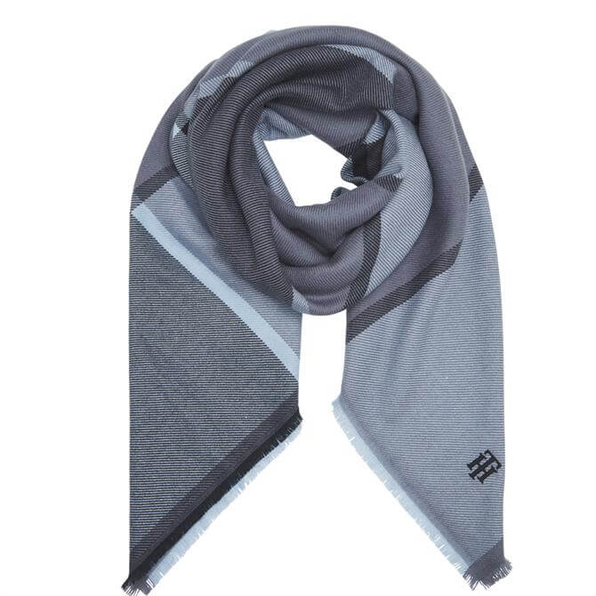 Tommy Hilfiger Monogram Check Square Scarf