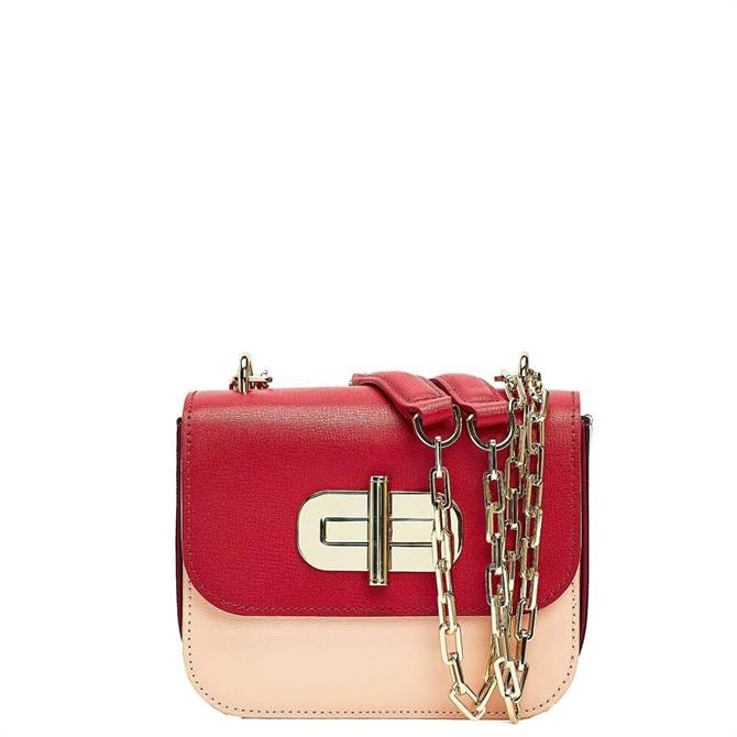 Tommy Hilfiger Turnlock Small Leather Crossover Bag