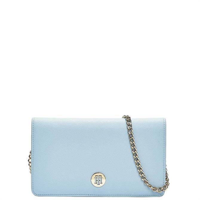 Tommy Hilfiger Breezy Blue Small Chain Strap Clutch Bag