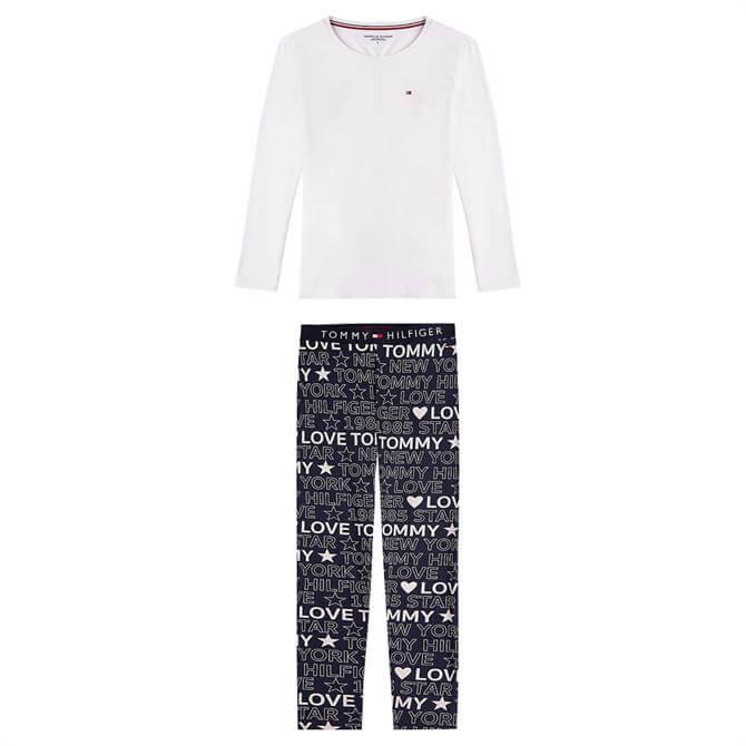Tommy Hilfiger Long Sleeve Logo Print Pyjama Set
