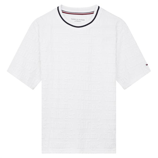 Tommy Hilfiger Towelling All-Over Logo Lounge T-Shirt