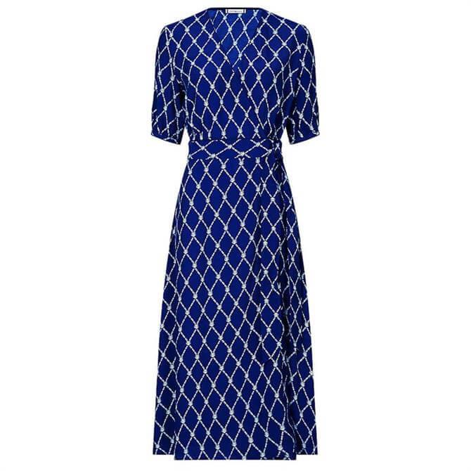 Tommy Hilfiger Chain Print Wrap Dress