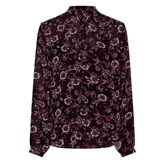 Tommy Hilfiger Floral Popover Relaxed Blouse