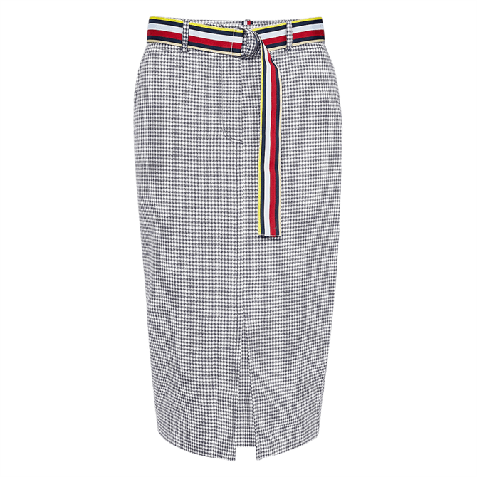 Tommy Hilfiger Gingham High Rise Pencil Skirt