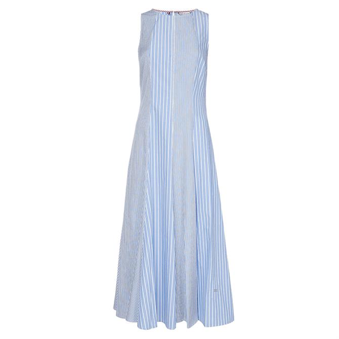 Tommy Hilfiger Organic Cotton Stripe Midi Dress