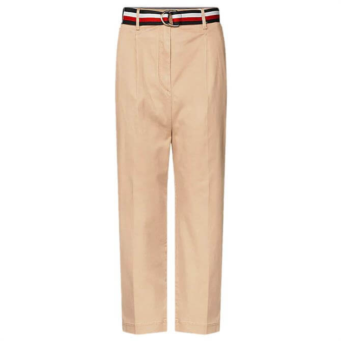 Tommy Hilfiger Essential Cropped Pleated Chinos
