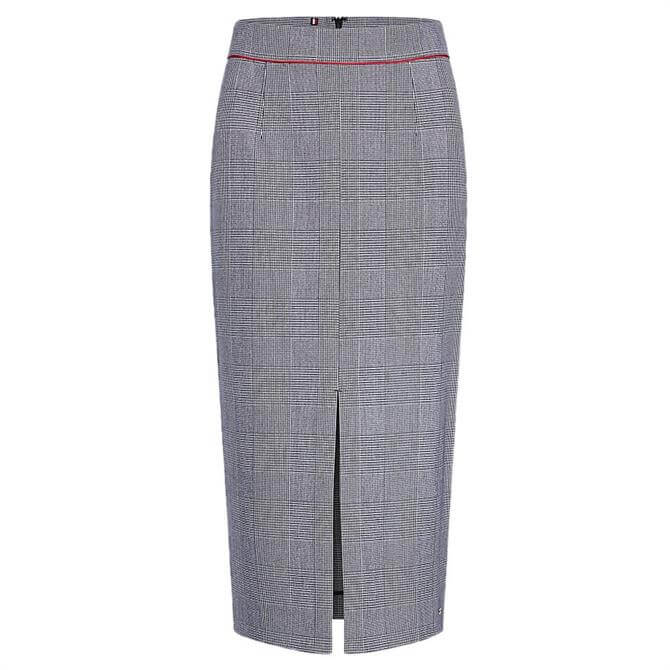 Tommy Hifiger Fauna Check Midi Pencil Skirt