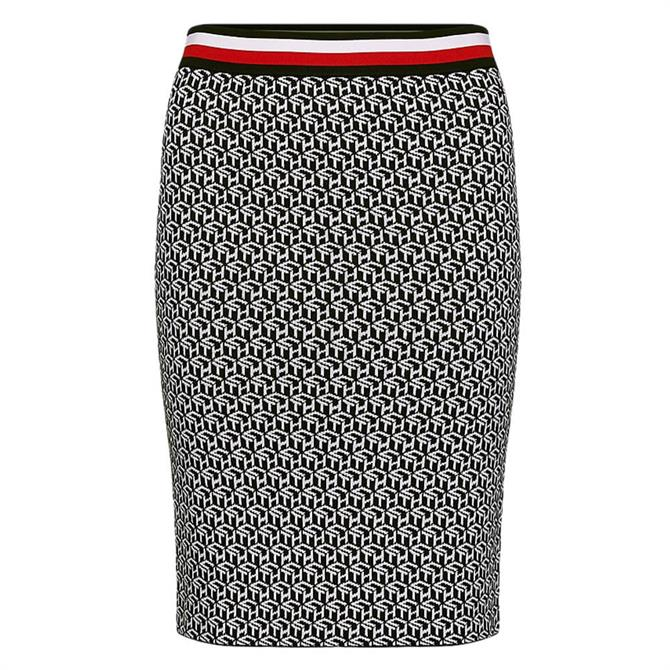 Tommy Hilfiger Monogram Pencil Skirt