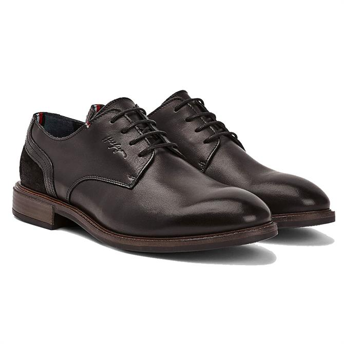 Tommy Hilfiger Elevated Black Leather & Suede Oxford Shoes