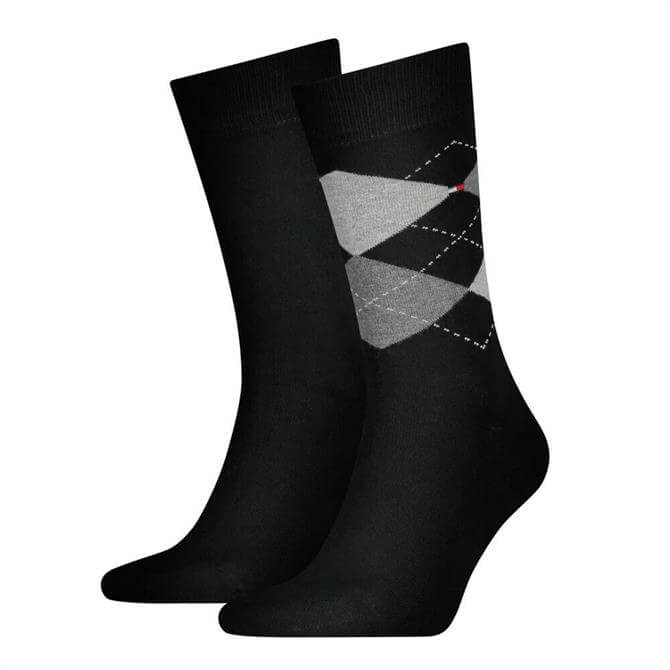 Tommy Hilfiger Argyle Check 2 Pack Socks