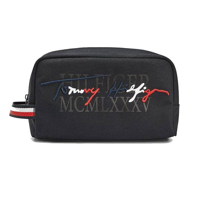 Tommy Hilfiger Signature Logo Wash Bag