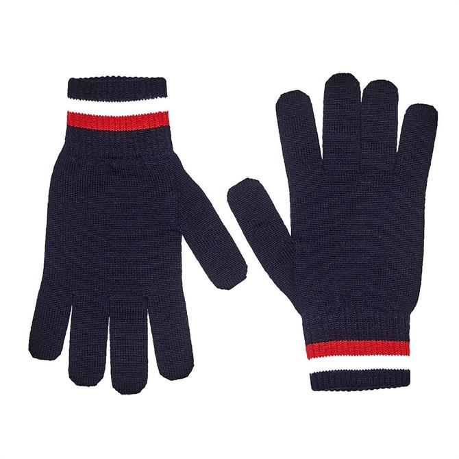 Tommy Hilfiger Signature Fine Knit Wool Gloves