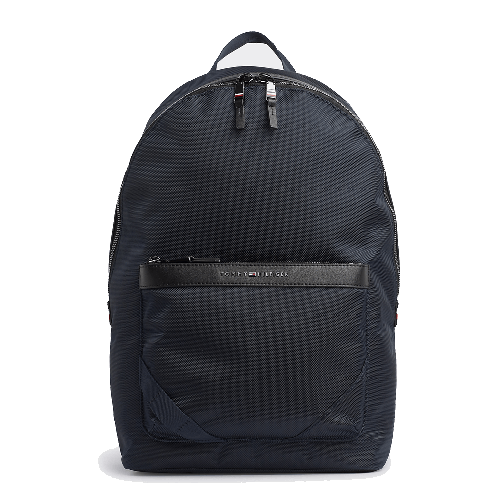 An image of Tommy Hilfiger Elevated Signature Tape Backpack - O/S, SKY CAPTAIN