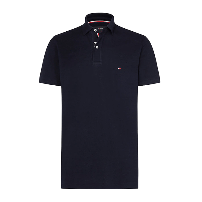 Tommy Hilfiger Logo Placket Regular Fit Cotton Polo