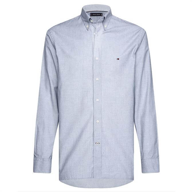 Tommy Hilfiger Blue Soft Touch Pure Cotton Dobby Shirt