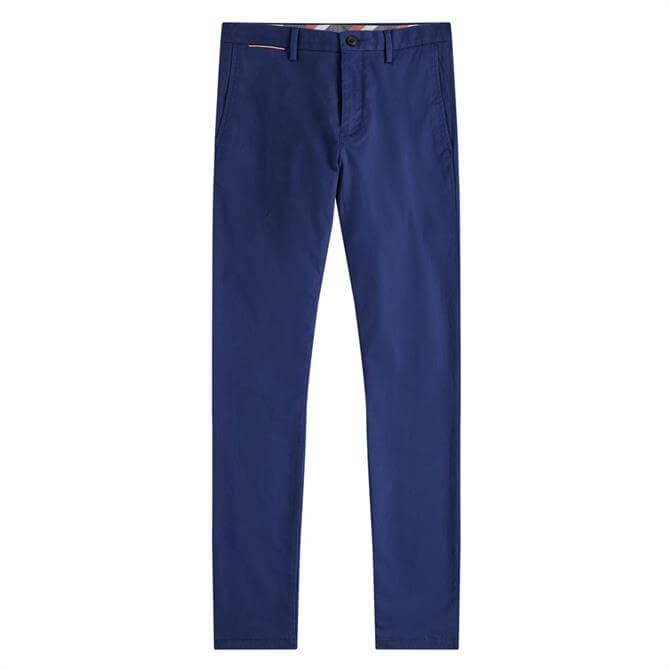 Tommy Hilfiger Denton Straight Fit Blue Ink Chinos