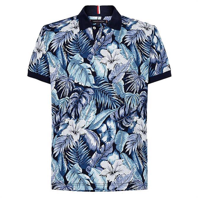 Tommy Hilfiger Tropical Print Regular Fit Polo Shirt