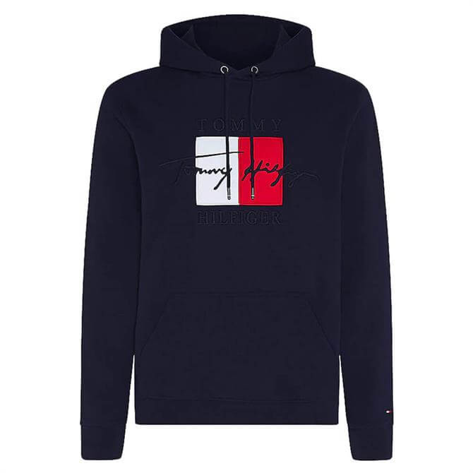 Tommy Hilfiger TH Signature Logo Embroidery Hoodie