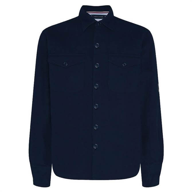 Tommy Hilfiger Navy Heavy Twill Oversized Fit Overshirt