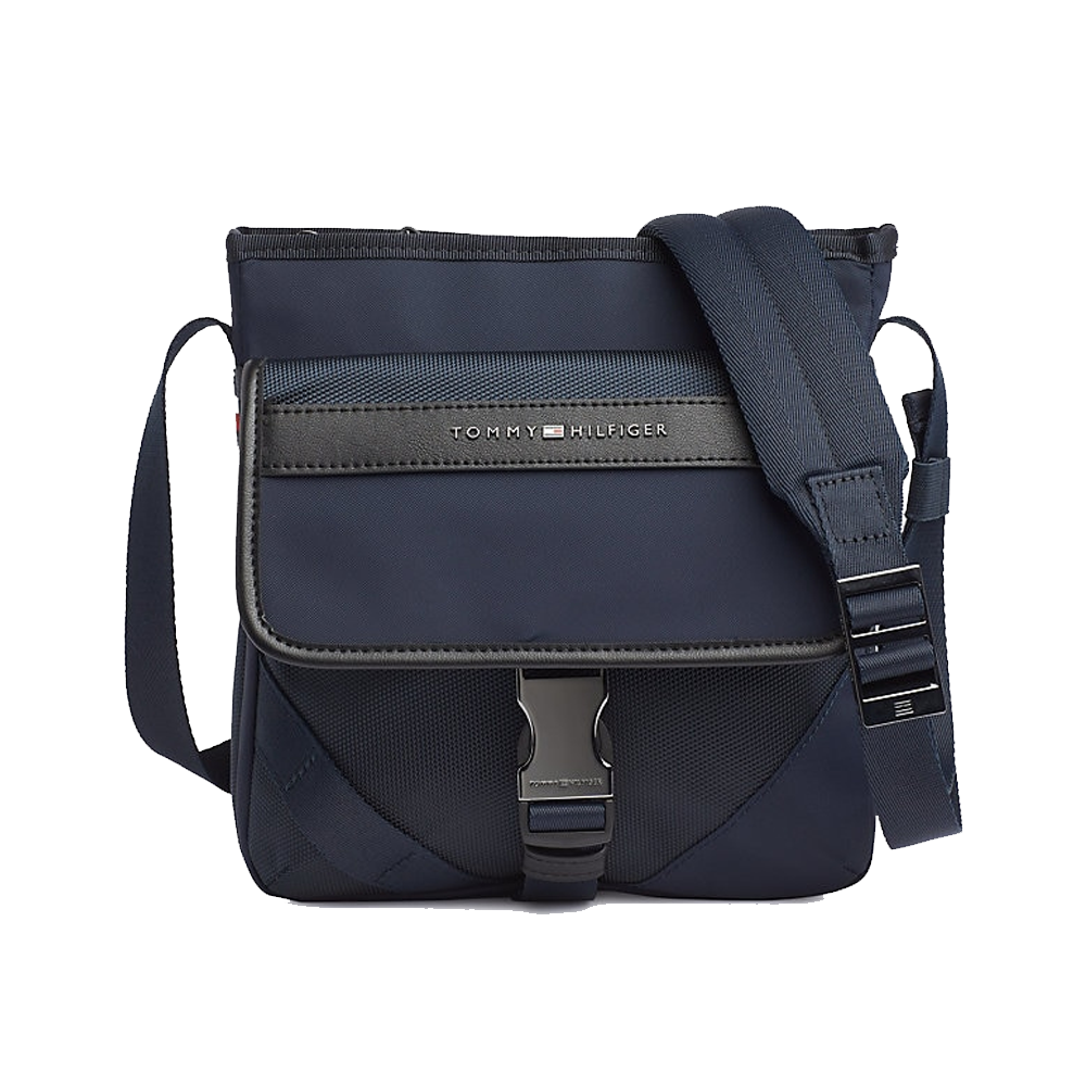 An image of Tommy Hilfiger Nylon Crossover Bag - O/S, SKY CAPTAIN