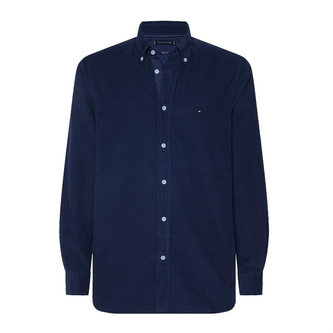 Tommy Hilfiger Regular Fit Garment Dyed Corduroy Shirt