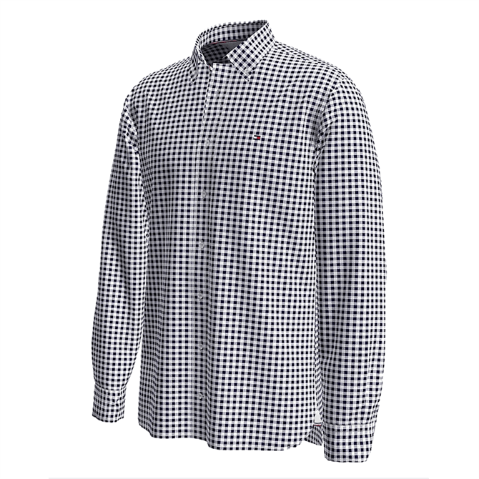 Tommy Hilfiger Regular Fit Textured Gingham Shirt