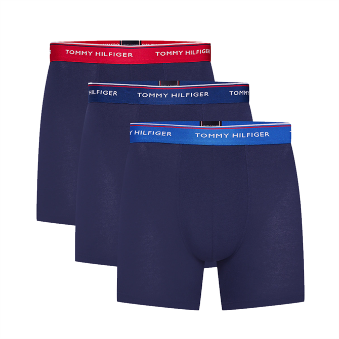 Tommy Hilfiger 3 Pack Statement Waistband Trunks