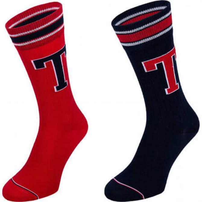 Tommy Hilfiger 2 Pack Patched Socks