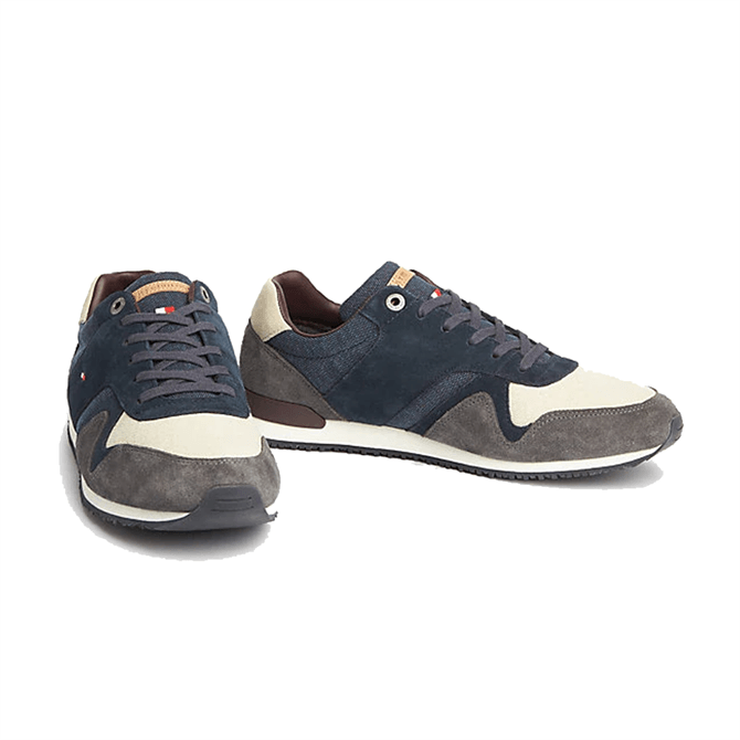 Tommy Hilfiger Icon Mixed Material Trainers in Midnight