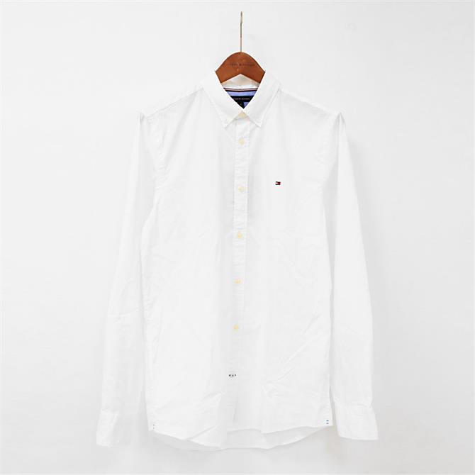 Tommy Hilfiger White Slim Fit Stretch Poplin Shirt