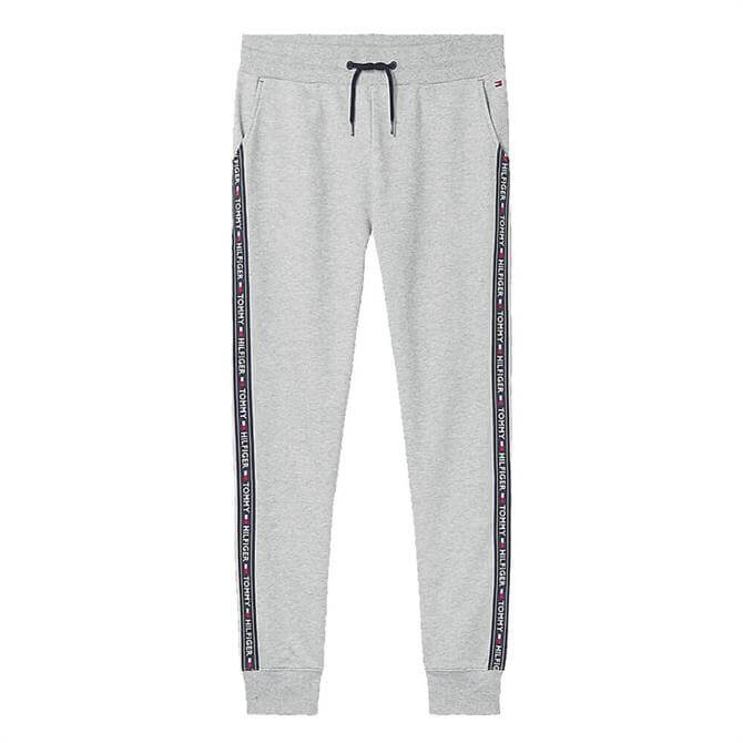 Tommy Hilfiger Grey Repeat Logo Tape Joggers